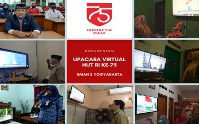 Warga SMA Negeri 2 Yogyakarta Ikuti Upacara HUT ke-75 RI Secara Virtual