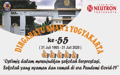 HUT Ke-55 SMA Negeri 2 Yogyakarta di Tengah Pandemi Covid-19